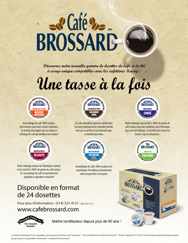 cup compatible café brossard